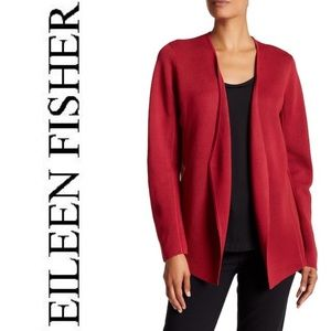 Eileen Fisher Angled Front Silk Blend Jacket